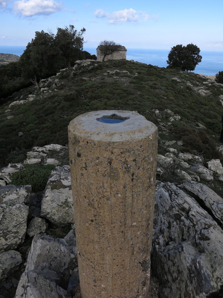 Marker at the top of the hill
