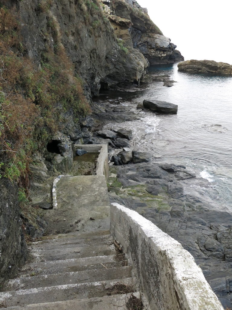 Evdilos Beach Steps